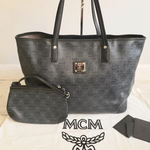 100% Authentic mcm shopper tote